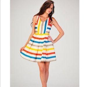 Minuet skater dress. Small. Stripes.